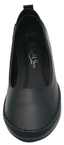 AgeeMi Shoes Donna Elegante Pu Ballerine Nero Pelle Estate Primavera Scarpe Nero