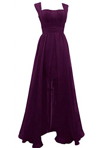 Sunvary nuovo elegante Chiffon Prom A-line cinghie per Spaghetti, abiti da damigella d'onore Gowns Grape