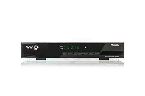 WWIO TRINITY TWIN DVB-S2 Digitel Receiver (HDTV, HDMI, SCART, PVR-Ready, 2x USB 2.0) schwarz