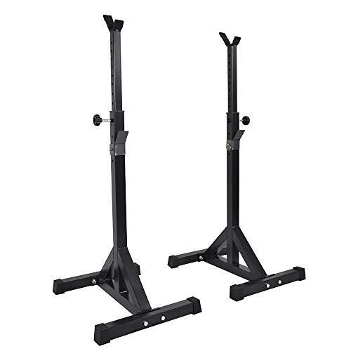 Boudech supporto per bilanciere rastrelliera rack & dip | peso max. 100 kg | regolabile in altezza su 12 livelli *supportobil*