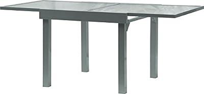 IB-Style - DIPLOMAT Gartentisch-XL Premium Ausziehtisch SILBERMATT 2 Größen: 90 - 180 cm | 65 -130 cm Gartentisch