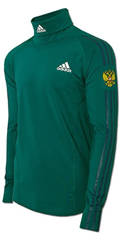 adidas Herren Rollneck Team Russia Rollkragen Longsleeve Shirt Skirolli Olympia (Petrol-blau, D8 - L - 54)