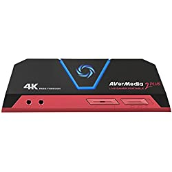 AverMedia Live Gamer Portable 2Plus, 4K Pass-Through, Full HD P USB 24BPP Game Capture, Ultra Low Latency, Record, Stream, Plug & Play, Party Chat für Xbox, Playstation, Nintendo Schalter (gc513)