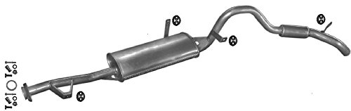 ETS-EXHAUST 50389 Silenziatore marmitta Centrale pour PUNTO II 1.2 HATCHBACK 80hp 1999-2006 kit di montaggio