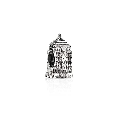 Tedora: Silver Empire State Building Bead Charm