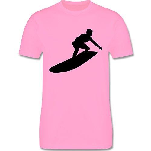 Wassersport - Surfer - Herren Premium T-Shirt Rosa