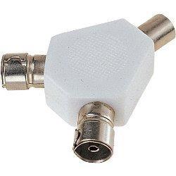 Dencon 2 Wege TV Koax Splitter Y-Zwischenstecker Antennenkabel Hohe Qualität