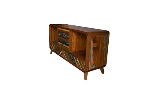 (TV10)Teakholz TV Kommode Kabinett Sideboard Schrank Shabby Vintage Retro Flur Chic - 3
