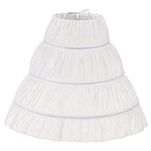 MEITEMEI Kinder Reifrock A Linie 3 Ringe Petticoat Unterrock Mädchen Lang Prinzessin Kleid Halb Slip (2-6 Yrs,Length 21.65