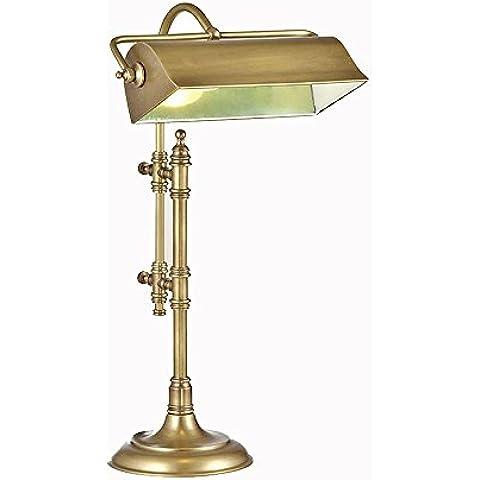 Lámparas de mesa retro de lámpara de mesa de cobre puro estudio creativo