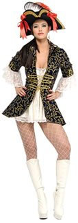 Pirat Königin - Geheimnis Wünsche- Adult (Buccaneer Kostüme Babe)