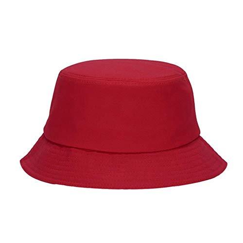WUSYO Spring Summer Fisherman Caps Lässige Baumwolle Breiter Rand Outdoor Angeln Hüte, Rot (Rot Neue ära Hut)