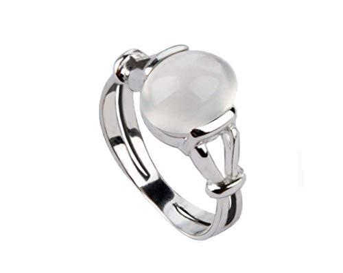 ZXH Twilight 4 Beira Moonlight 925 Silber Diamanten Ring Hochzeits-Vorschlag Ring Frauen Mode Classic Ring,10