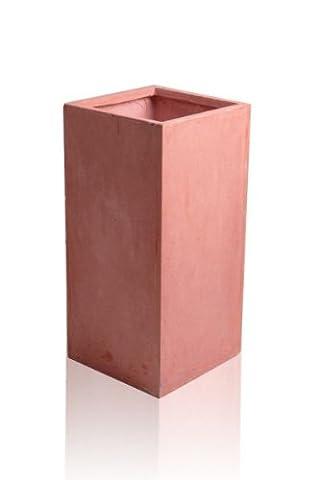 Tall Terracotta Fibrecotta Cube - H70 x