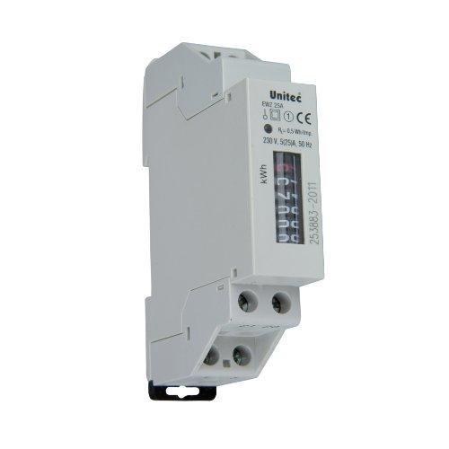 UNITEC 41742 Wechselstrom-Zwischenzähler, 230V, 25A, elektronisch