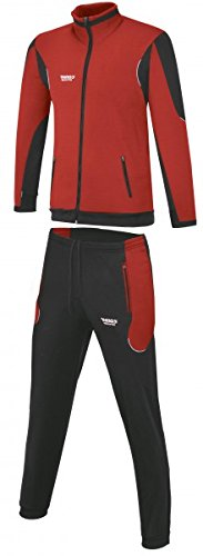 RHINOS sports Trainingsanzug Athletico Rot/Schwarz L