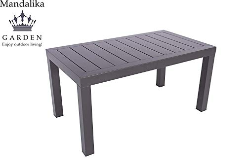 Aluminium Gartentisch Loungetisch Toledo 90 x 50 mit Aluminium Tischplatte, absolut wetter