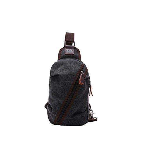 leisial Outdoor Sport seno seno Bicicletta Borsa a tracolla borsa da viaggio, nero, 28*16*6cm - 16 Art Outdoor Tela