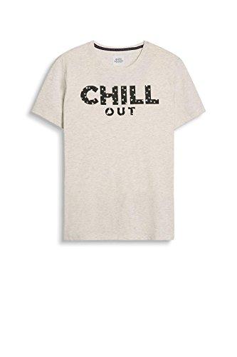 edc by ESPRIT Herren T-Shirt 037cc2k003 Weiß (Off White 110)