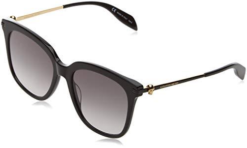 Alexander mcqueen am0107s 001 55 occhiali da sole, nero (001-black/grey), donna