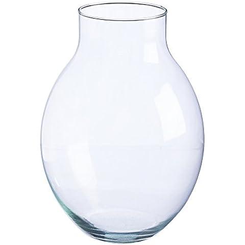 Ravenhead Naturals Lampadina in vetro soffiato moderno vaso 30cm,