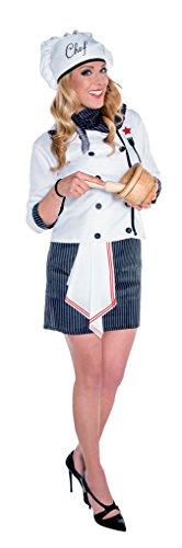 Imagen de disfraz chef mujer m l