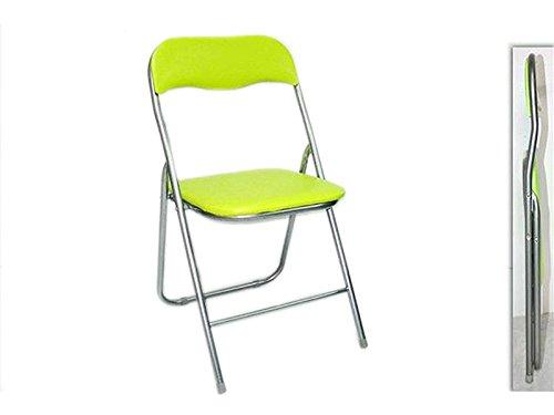 Sedia pieghevole imbottita struttura in metallo per casa e campeggio sedie verde
