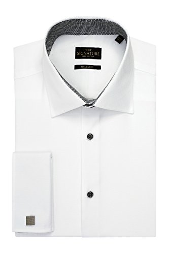 next Uomo Camicia Signature con Lavorazione Intrecciata Vestibilità Regular Bianco Polsino Doppio1
