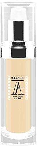 Make-Up Atelier Paris Waterproof Liquid Fondation Beige FLW1B Pale Beige, Wasserfestes Make-Up (Pale Beige) (Atelier Paris Make-up)
