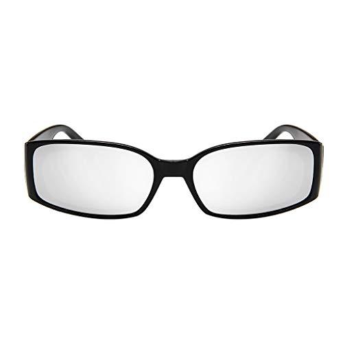 EUCoo MäNner Und Frauen Sonnenbrillen Mode Leichte Spiegel Polarisierte Sonnenbrille Quadratische Brille(Silber)