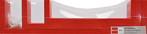 Duraline U-Regale, Estante de Pared Decorativo, MDF, Rojo, 42 x 10 x...