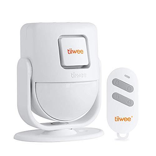 tiiwee X4 PIR Bewegungsmelder Alarm - Einbruchmeldeanlage mit Fernbedienung - 125 dB Sirene - Erweiterbar -Garagen - Gartenhaus - Wohnmobil - Türklingel und Lauter Sirenen-Sound - 2 Jahre Garantie