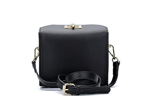 Morenjoy life 1960s Smooth Calf Leather Purse Small Handbag Mobile Phone Bag Women Baguettes (black)
