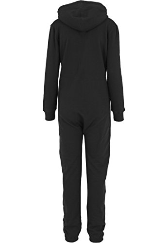 Urban Classics TB1077 Ladies Sweat Jumpsuit Overall Anzug Teddy Damen, Farbe:blk/wht;Größen:M - 5