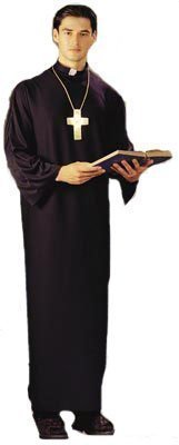 Adult Fancy Dress Priest Costume