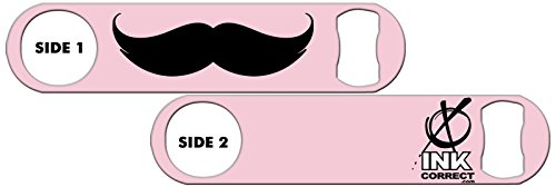 killer-inked-bottle-opener-mustache-plain-1-lite-pink-by-ink-correct-bar-tools-and-gear