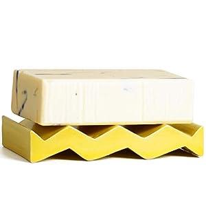 OBAstudios–Jabonera cerámica Rocky M, cerámica, Blanco, 16 x 92 x 64 mm
