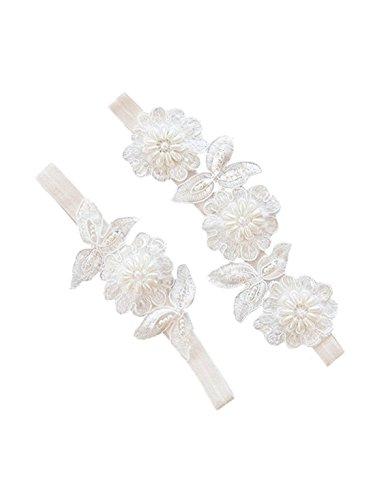 Lemandy hand-sewing giarrettiere matrimonio per sposa avorio con giarrettiera da sposa giarrettiere td010