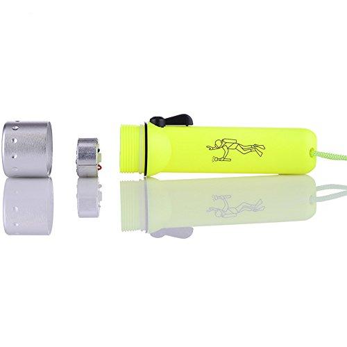 KooKen Diving torcia elettrica Q5 LED impermeabile della torcia lampada subacquea e di campeggio esterna della torcia elettrica