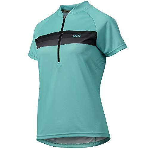 IXS Trail 6.1 Damen Jersey Fahrrad Trikot Shirt Downhill MTB All Mountain Bike Enduro Tour, IX-JER-6750, Farbe Türkis, Größe 36 -
