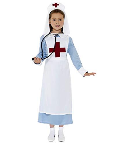Kostüm Krankenschwester Militär - Horror-Shop Puppenklinik Lazarett Krankenschwester Kinderkostüm M