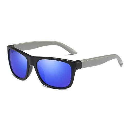 Herren Sonnenbrillen Ultraleichte polarisierte Sonnenbrille im UV400-Schnitt Fahrrad fahren Laufen Angeln Bergsteigen LTJHJD (Color : Blau, Size : Kostenlos)