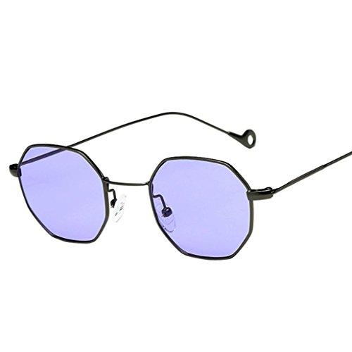 Sommer Brille FORH Unisex Mode Polarisierte Katzenaugen Sonnenbrille Klassische Unregelmäßige Rahmen Gläser Outdoor Sportarten Schutz Brille UV-Schutz Fahrbrille (Lila)