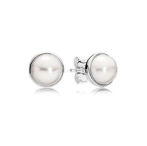 Pandora Damen-Ohrstecker 925 Silber Perle weiß - 290727P