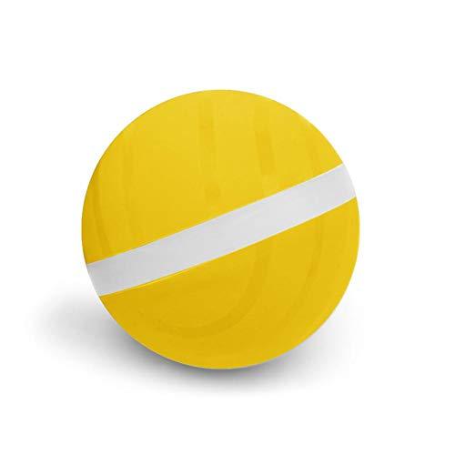 iBàste Pets Dog Treat Toy Ball, Interaktives Hundespielzeug, Dog Treat Ball, mit LED-Rollblitz für Haustierwelpen und Katzen, die beim Kauen 68 mm Spielen -