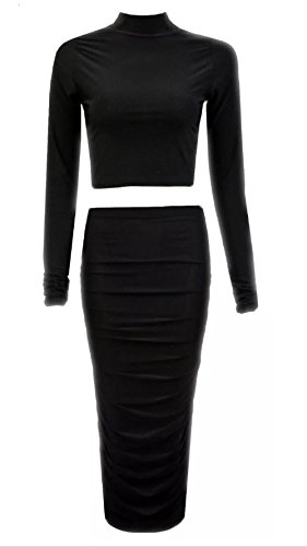 Comfiestyle - Robe - Manches Longues - Femme Noir