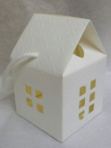 10 scatole casetta cartone x bomboniere confettata 8x8xh12 cm