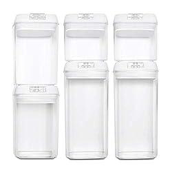 BASIL | Vakuum Vorratsdosen & Frischhaltedosen | 6er-Set | BPA frei & spülmaschinengeeignet | luftdicht & wasserdicht | Aufbewahrungsdose & Vorratsbehälter mit selbstklebendem Beschriftungsetikett