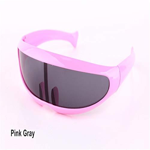 FGRYGF-eyewear Sport-Sonnenbrillen, Vintage Sonnenbrillen, Personality Planga Sunglasses Laser Glasses Men Women Sunglass Robots Sun Glasses Men's Driving Pink Gray