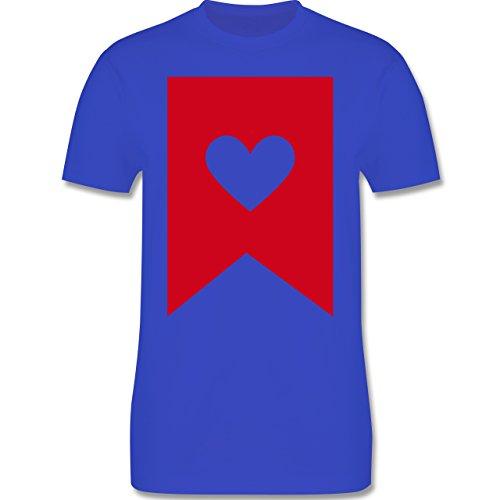Symbole - Herz - Herren Premium T-Shirt Royalblau